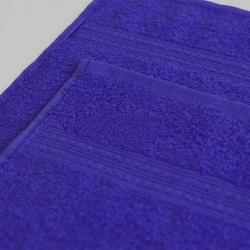 Полотенце махровое Темно-синее ITUMA