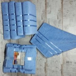 Голубой Aqva комплект полотенец AISHA
