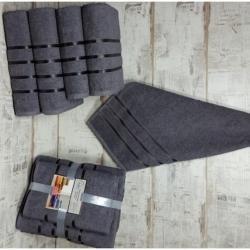 Серый Aqva комплект полотенец AISHA
